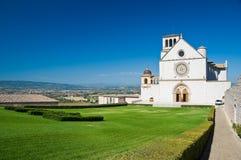 Εκκλησία βασιλικών του d'Assisi του ST Francesco Ουμβρία Ιταλία στοκ εικόνα με δικαίωμα ελεύθερης χρήσης