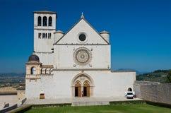 Εκκλησία βασιλικών του d'Assisi του ST Francesco Ουμβρία Ιταλία στοκ εικόνες