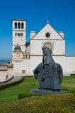 Εκκλησία βασιλικών του d'Assisi του ST Francesco Ουμβρία Ιταλία στοκ φωτογραφία με δικαίωμα ελεύθερης χρήσης