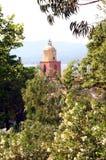 Εκκλησία Γαλλία πύργων κουδουνιών Άγιος-Tropez Provencal στοκ εικόνα