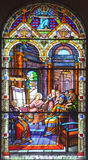 Εκκλησία λεκιασμένου του Άγιος-Leon-de-Westmount παραθύρου γυαλιού Στοκ φωτογραφίες με δικαίωμα ελεύθερης χρήσης