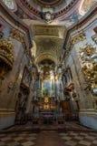 Εκκλησία εσωτερική Βιέννη του ST Peters Στοκ εικόνα με δικαίωμα ελεύθερης χρήσης