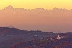 Εκκλησία κάτω από το βουνό Triglav, Σλοβενία Στοκ φωτογραφία με δικαίωμα ελεύθερης χρήσης