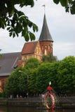 Εκκλησία καθεδρικών ναών σε Kaliningrad Στοκ Φωτογραφία