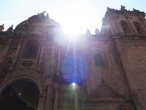 εκκλησία καθεδρικών ναών Plaza de Armas cuzco Περού Στοκ Φωτογραφίες