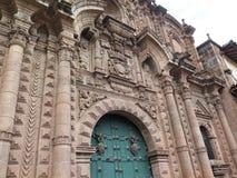εκκλησία καθεδρικών ναών Plaza de Armas cuzco Περού Στοκ φωτογραφίες με δικαίωμα ελεύθερης χρήσης