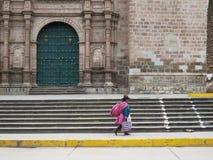 εκκλησία καθεδρικών ναών Plaza de Armas cuzco Περού Στοκ φωτογραφία με δικαίωμα ελεύθερης χρήσης