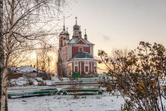 Εκκλησία και βάρκες Στοκ Φωτογραφίες