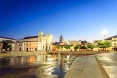Εκκλησία και κυβερνήτες Castle της Σάντα Μαρία στο Λάγκος, Πορτογαλία Στοκ εικόνα με δικαίωμα ελεύθερης χρήσης