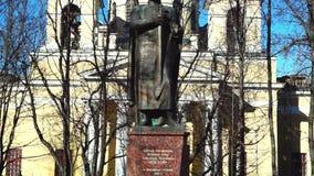 Εκκλησία και μνημείο στο Αλέξανδρο Navsky απόθεμα βίντεο