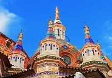 Εκκλησία κοινοτήτων Sant Ρώμη, Κόστα Μπράβα, Ισπανία Στοκ Φωτογραφία