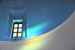 Εσωτερική εκκλησία Emporio Santorini Στοκ Εικόνα