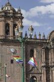 Εκκλησία Λα Compania de Ιησούς Plaza de Armas στην πλατεία σε Cuzco, Π Στοκ Εικόνες