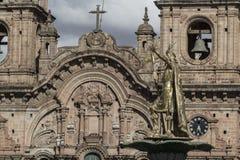 Εκκλησία Λα Compania de Ιησούς Plaza de Armas στην πλατεία σε Cuzco, Π Στοκ εικόνα με δικαίωμα ελεύθερης χρήσης
