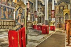 Εκκλησία μέσα, ζωηρόχρωμο εσωτερικό Στοκ φωτογραφία με δικαίωμα ελεύθερης χρήσης