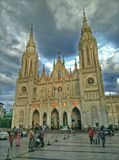 Εκκλησία με έναν δραματικό ουρανό στοκ φωτογραφία με δικαίωμα ελεύθερης χρήσης
