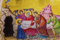 Εκκλησία μωσαϊκών τάφων Χριστού του ιερού Sepulcher Ιερουσαλήμ Ισραήλ Στοκ φωτογραφία με δικαίωμα ελεύθερης χρήσης