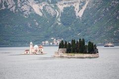 Εκκλησία νησιών στο Μαυροβούνιο Στοκ φωτογραφίες με δικαίωμα ελεύθερης χρήσης
