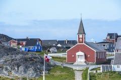 Εκκλησία Νουούκ, Γροιλανδία Στοκ Φωτογραφία