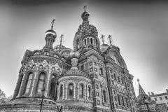 εκκλησία Πετρούπολη Ρωσία savior ST αίματος Στοκ Φωτογραφίες