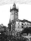 εκκλησία Πράγα στοκ εικόνα με δικαίωμα ελεύθερης χρήσης