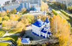 Εκκλησία προς τιμή το εικονίδιο της μητέρας του Θεού Στοκ φωτογραφία με δικαίωμα ελεύθερης χρήσης