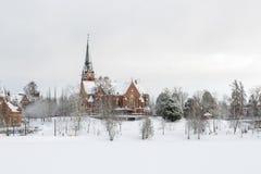 Εκκλησία πόλεων σε UmeÃ¥, Σουηδία Στοκ Φωτογραφία
