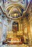 Εκκλησία Ρώμη Ιταλία βωμών SS Vincenzo E Anastasio Στοκ φωτογραφία με δικαίωμα ελεύθερης χρήσης