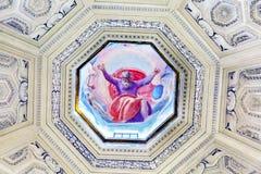Εκκλησία Ρώμη Ιταλία ρυθμών της Σάντα Μαρία Della θόλων ζωγραφικής Θεών Στοκ Εικόνα
