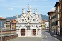 Εκκλησία Σάντα Μαρία de Λα ράχη Πίζα Στοκ φωτογραφίες με δικαίωμα ελεύθερης χρήσης