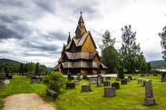Εκκλησία σανίδων Heddal σε Telemark, Νορβηγία Στοκ Φωτογραφίες