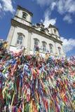 Εκκλησία Σαλβαδόρ Bahia Βραζιλία Bonfim μπλε ουρανού κορδελλών επιθυμίας Στοκ φωτογραφίες με δικαίωμα ελεύθερης χρήσης
