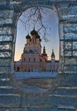 Εκκλησία σε ένα σύντομο χρονογράφημα από τον πάγο Στοκ φωτογραφία με δικαίωμα ελεύθερης χρήσης