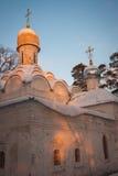 Εκκλησία σε Arkhangelskoye, Μόσχα, Ρωσία Στοκ φωτογραφία με δικαίωμα ελεύθερης χρήσης