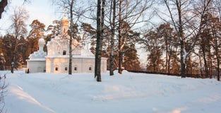 Εκκλησία σε Arkhangelskoye, Μόσχα, Ρωσία Στοκ Φωτογραφίες