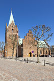 Εκκλησία σε Grenaa, Djursland, Δανία Στοκ Φωτογραφία