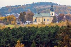 Εκκλησία σε Olsztyn, Σιλεσία Στοκ Φωτογραφία