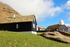 Εκκλησία στα Νησιά Φερόες Στοκ φωτογραφίες με δικαίωμα ελεύθερης χρήσης