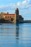 Εκκλησία στην ακτή, Collioure, Γαλλία Στοκ φωτογραφίες με δικαίωμα ελεύθερης χρήσης