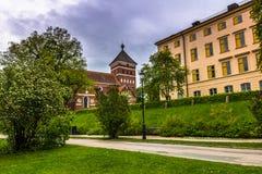 Εκκλησία στην Ουψάλα, Σουηδία Στοκ Φωτογραφίες