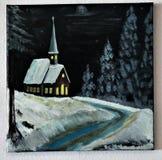 Εκκλησία στη δασική εικόνα που γίνεται από με Στοκ Εικόνες