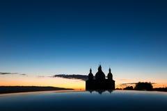 Εκκλησία στη νύχτα Στοκ Φωτογραφίες