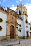 Εκκλησία στη Ronda, Ισπανία Στοκ Φωτογραφίες