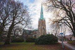 Εκκλησία στο Γκέτεμπουργκ και το όμορφο πάρκο Χειμώνας Στοκ φωτογραφία με δικαίωμα ελεύθερης χρήσης