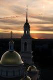 Εκκλησία στο ηλιοβασίλεμα Στοκ Εικόνα