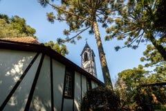 Εκκλησία στο που έχουν μεταναστεύσει του χωριού πάρκο & x28 Parque Aldeia do Imigrante& x29  - Η Nova Petropolis, Rio Grande κάνε στοκ εικόνες