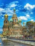 Εκκλησία στο ST Πετρούπολη Στοκ φωτογραφία με δικαίωμα ελεύθερης χρήσης