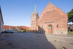 Εκκλησία τετραγωνικό Rudkøbing Στοκ Εικόνες
