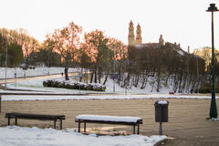 Εκκλησία της ανάβασης σε Vilnius Στοκ Φωτογραφίες