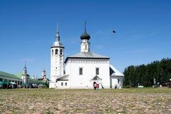 Εκκλησία της αναζοωγόνησης στην εμπορική περιοχή στο Σούζνταλ Στοκ Εικόνες